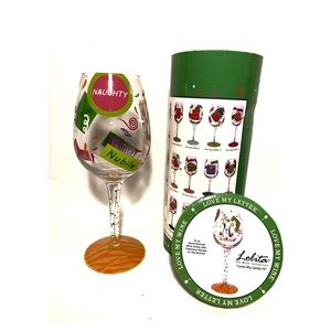 """NIB LOLITA """"Love My Letter N"""" Wine Glass"""